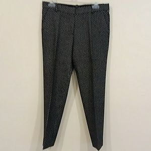 J. Crew size 4 black with white dots Capri pants
